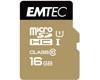 EMTEC MicroSDHC 16Go EMTEC +Adapter CL10 Gold+ UHS-I 85MB/s - Sous blister
