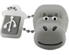 Cl� USB 4 Go, s�rie Animals, Hippopotame