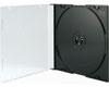 X-Layer Boitier Crystal Fin pour 1 CD fond noir Haute Qualité, 100 pièce