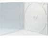 X-Layer Boitier Crystal Fin pour 1 CD blanc, Haute Qualité, 100 pièces