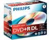Philips DVD+R double couche 8x, 5 pièces en jewelcase