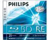 Philips BD-RE Blu-ray 25 Go réinscriptible, 5 pièces en jewelcase