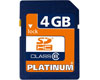 Platinum SD Card 4GB SDHC Classe 6