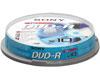 Sony DVD-R 16x, 10 pièces en cakebox