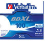 Verbatim BD-R 100GB 5pcs BD-R JC Printable