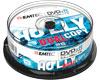 EMTEC DVD+R DL 8,5 Go 1-8x, 25 pièces en Cake Box