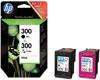 Hewlett Packard Encre Combipack CN637EE Noir/Couleur