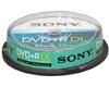 Sony DVD+R 8x Double-couche, 10 pièces en cakebox