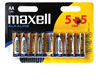 Maxell Piles Alcalines AA, 1,5V, 10 pièces en blister