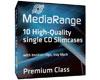 MediaRange Boîtier Crystal fin (5mm, fond noir) pour CD, 10 pièces B32