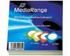 MediaRange Enveloppes à fenêtre pour CD/DVD, colorées, 100 pièces