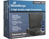 MediaRange Boîtier Crystal standard (9mm, fond noir) pour CD, 5 pièces B31