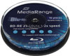 BD-RE Blu-ray Rewritable 25 GB 2x, cake 10