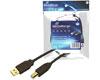 C�ble USB 2.0 A/B noir, 3m