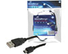 Cble USB 2.0, USB vers Mini USB, noir, 1,5m