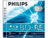 Philips BD-RE Blu-ray 25 Go réinscriptible, en jewelcase