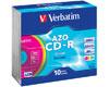 Verbatim CD-R 5 couleurs différentes, 52x, 10 pièces en slimcase