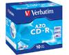 CD-R AZO, 52x, 10 pièces en jewelcase