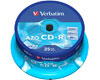 Verbatim CD-R Super Azo, Datalife plus, 52x, 25 pièces en cake box