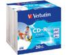 CD-R imprimable AZO avec ID, 52x, 20 pièces en slim case