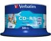 Verbatim CD-R imprimable AZO sans ID, 52x, 50 pièces en cake box