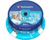 CD-R imprimable AZO avec ID, 52x, 25 pièces en cake box