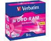 Verbatim DVD-RAM 4,7 Go, 5 pièces en jewelcase