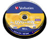 Verbatim DVD+RW 4x certifié, 10 pièces en cake box