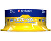 Verbatim DVD+RW 4x certifié, 25 pièces en cake box