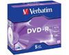 Verbatim DVD+R Matt Silver, 16x certifié, 5 pièces en jewelcase