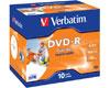DVD-R imprimable 16x certifié, 10 pièces en jewelcase
