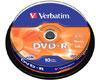 Verbatim DVD-R Matt Silver, 16x certifié, 10 pièces en cake box