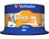 DVD-R imprimable 16x certifié, 50 pièces en cake box