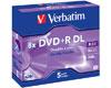Verbatim DVD+R double couche 8.5 Go 8x certifié, 5 pièces en jewelcase