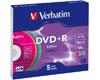 Verbatim DVD+R 16x couleur, 5 pièces en slimcase