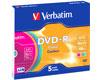 DVD-R 16x couleur, 5 pièces en slimcase
