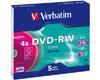 DVD-RW 4x couleur, 5 pièces en slimcase