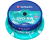 DVD-RW Data/Video, 4x certifié, 25 pièces en cake box