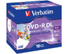 Verbatim DVD+R dual layer 8.5 GB printable, jewelcase 10