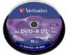 DVD+R double couche 8.5 Go 8x, 10 pièces en cake box